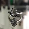 1.27ct Antique Pear Diamond Ring, GIA F VS2 25