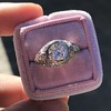 1.28ctw Old European Cut Diamond Die-Struck Ring  11