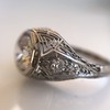 1.28ctw Old European Cut Diamond Die-Struck Ring  3