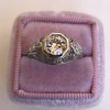 1.28ctw Old European Cut Diamond Die-Struck Ring  18