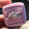 1.28ctw Old European Cut Diamond Die-Struck Ring  0