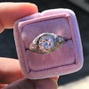1.28ctw Old European Cut Diamond Die-Struck Ring  2