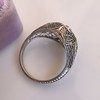 1.28ctw Old European Cut Diamond Die-Struck Ring  4