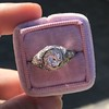 1.28ctw Old European Cut Diamond Die-Struck Ring  12