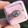 1.28ctw Old European Cut Diamond Die-Struck Ring  5