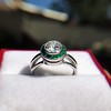 1.30ctw Old European Cut Diamond Emerald Target Ring 12