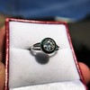 1.30ctw Old European Cut Diamond Emerald Target Ring 21