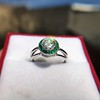 1.30ctw Old European Cut Diamond Emerald Target Ring 23