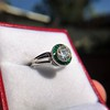 1.30ctw Old European Cut Diamond Emerald Target Ring 19