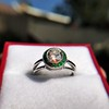1.30ctw Old European Cut Diamond Emerald Target Ring 13