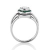 1.30ctw Old European Cut Diamond Emerald Target Ring 3