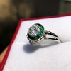 1.30ctw Old European Cut Diamond Emerald Target Ring 20