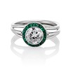 1.30ctw Old European Cut Diamond Emerald Target Ring 0