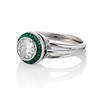 1.30ctw Old European Cut Diamond Emerald Target Ring 1