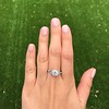 1.31ctw Art Deco Transitional Cut Diamond Ring 17