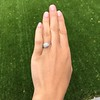 1.31ctw Art Deco Transitional Cut Diamond Ring 10