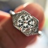 1.31ctw Art Deco Transitional Cut Diamond Ring 13