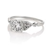 1.31ctw Art Deco Transitional Cut Diamond Ring 1
