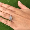 1.31ctw Art Deco Transitional Cut Diamond Ring 14