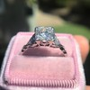 1.31ctw Art Deco Transitional Cut Diamond Ring 24