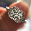 1.31ctw Art Deco Transitional Cut Diamond Ring 7
