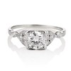 1.31ctw Art Deco Transitional Cut Diamond Ring 0