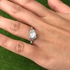 1.31ctw Art Deco Transitional Cut Diamond Ring 15
