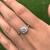 1.31ctw Art Deco Transitional Cut Diamond Ring 21