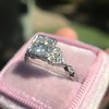 1.31ctw Art Deco Transitional Cut Diamond Ring 8