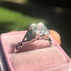 1.31ctw Art Deco Transitional Cut Diamond Ring 22