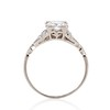 1.31ctw Art Deco Transitional Cut Diamond Ring 4
