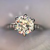 1.32ct Old European Cut Solitaire by Vatche, GIA I VS 4