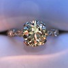 1.33ct Art Deco Old European Cut Diamond Solitaire 14