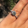 1.33ct Art Deco Old European Cut Diamond Solitaire 18