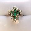 1.35ctw Antique Emerald and Diamond Ring 27