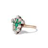1.35ctw Antique Emerald and Diamond Ring 1