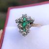 1.35ctw Antique Emerald and Diamond Ring 9