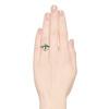 1.35ctw Antique Emerald and Diamond Ring 2