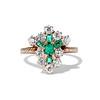 1.35ctw Antique Emerald and Diamond Ring 0