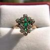 1.35ctw Antique Emerald and Diamond Ring 28