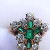 1.35ctw Antique Emerald and Diamond Ring 21