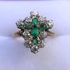 1.35ctw Antique Emerald and Diamond Ring 16