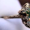 1.35ctw Antique Emerald and Diamond Ring 22