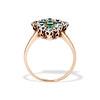 1.35ctw Antique Emerald and Diamond Ring 4