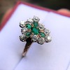 1.35ctw Antique Emerald and Diamond Ring 6