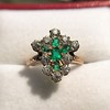 1.35ctw Antique Emerald and Diamond Ring 30
