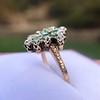 1.35ctw Antique Emerald and Diamond Ring 15