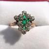 1.35ctw Antique Emerald and Diamond Ring 25
