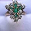 1.35ctw Antique Emerald and Diamond Ring 26