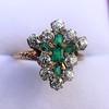 1.35ctw Antique Emerald and Diamond Ring 17